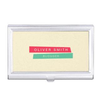 Moderne modische rote und grüne Streifen Visitenkarten Dose