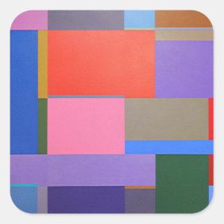 Moderne/Mondrian Kunst Quadratischer Aufkleber