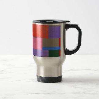 Moderne/Mondrian Kunst Reisebecher