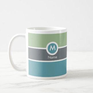 Moderne Monogramm-Kaffee-Tasse