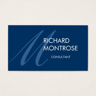 Moderne Monogramm-Visitenkarte - Blau Visitenkarte