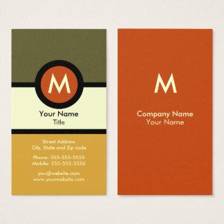 Moderne Monogramm-Visitenkarte Visitenkarte