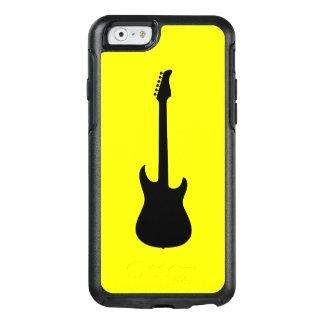 Moderne Musik-Schwarz-E-Gitarre auf Gelb OtterBox iPhone 6/6s Hülle