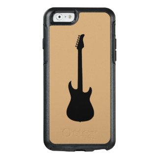 Moderne Musik-Schwarz-E-Gitarre auf Kamel Brown OtterBox iPhone 6/6s Hülle
