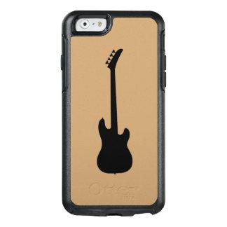 Moderne Musik-Schwarzes Bass-Gitarre auf Kamel OtterBox iPhone 6/6s Hülle