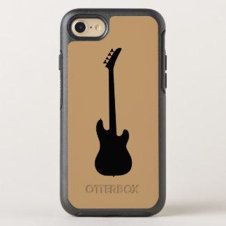 Moderne Musik-Schwarzes Bass-Gitarre auf Kamel OtterBox Symmetry iPhone 8/7 Hülle
