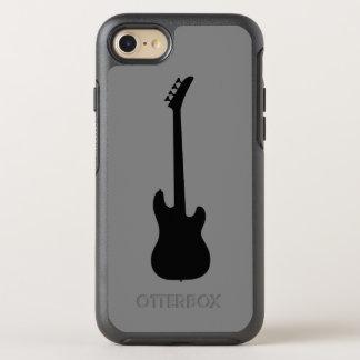 Moderne Musik-Schwarzes Bass-Gitarre auf mittlerem OtterBox Symmetry iPhone 8/7 Hülle