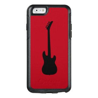 Moderne Musik-Schwarzes Bass-Gitarre auf OtterBox iPhone 6/6s Hülle