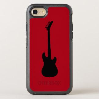 Moderne Musik-Schwarzes Bass-Gitarre auf OtterBox Symmetry iPhone 8/7 Hülle