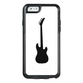 Moderne Musik-Schwarzes Bass-Gitarre auf Weiß OtterBox iPhone 6/6s Hülle