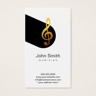 Moderne Musik-Symbol-Musiker-Visitenkarte Visitenkarte