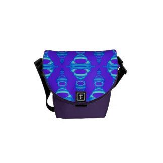Moderne Muster-Teiler 03 blau und lila Kuriertaschen