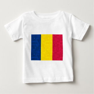 Moderne Musterchadian-Flagge Baby T-shirt