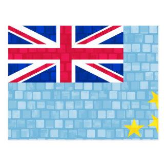 Moderne Mustertuvaluan-Flagge Postkarte