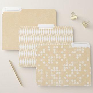 Moderne nebelhafte beige Dateiordner Papiermappe