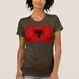 Moderne nervöse albanische Flagge T-shirt