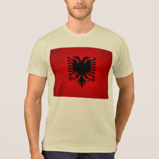 Moderne nervöse albanische Flagge Shirt