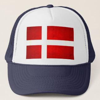 Moderne nervöse dänische Flagge Truckerkappe
