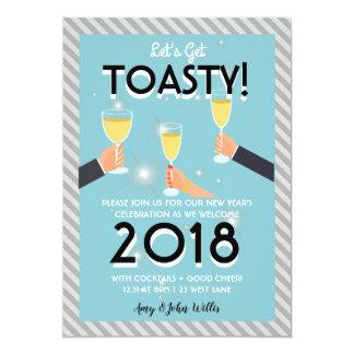 Moderne neue Jahre Einladungs- Karte