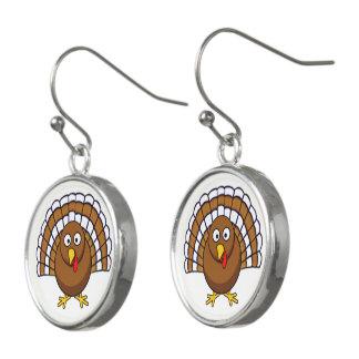 Moderne Ohrringe der niedlicher Erntedank-Türkei