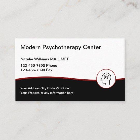 Moderne Psychotherapie Dienstleistungen Visitenkarte Zazzle De