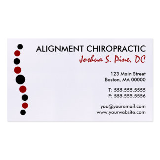 Moderne Punkt-Chiropraktik-Visitenkarte Visitenkarten