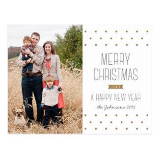 Moderne Punkt-WeihnachtsFoto-Postkarte Postkarte