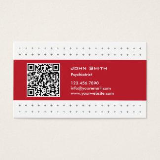 Moderne QR Code-Psychiaters-Visitenkarte Visitenkarte