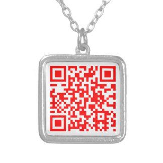 Moderne QR Code-Visitenkarte Versilberte Kette