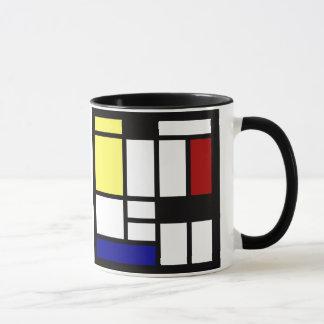 Moderne quadratische Kunst Tasse