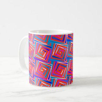 Moderne quadratische Spiralen der Mitte des Kaffeetasse