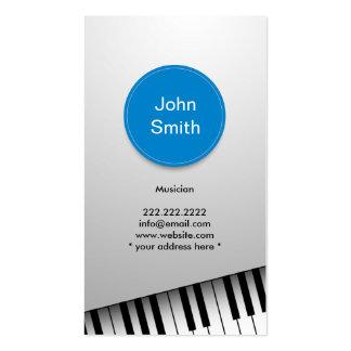Moderne realistische Klavier-Musiker-Visitenkarte