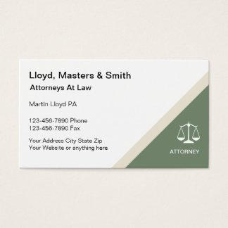 Moderne Rechtsanwalts-Visitenkarten Visitenkarte