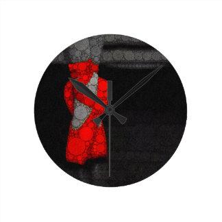 Moderne rote Ballett-Schuhe Uhr