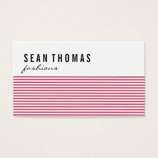 Moderne rote Linien der Mode-| Visitenkarte