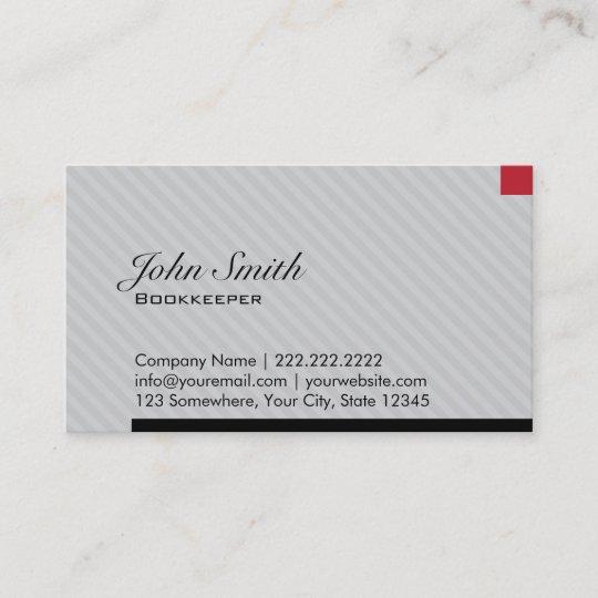 Moderne Rote Pixel Buchhalter Visitenkarte Visitenkarte