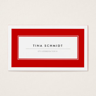 Moderne Rote Visitenkarten