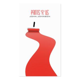 Moderne rote weiße Maler-Schablonen-Visitenkarte