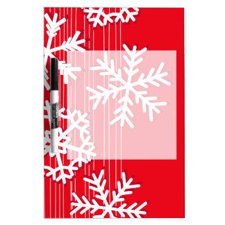 Moderne rotes und weißes memoboard