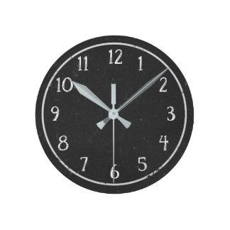 Moderne rustikale Imitat-Tafel-runde Uhr