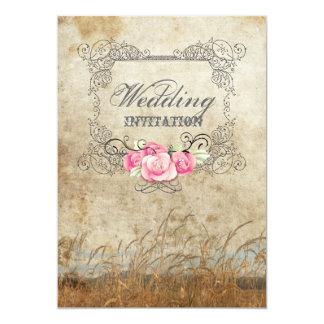 Moderne rustikale Land-Hochzeits-Einladung 12,7 X 17,8 Cm Einladungskarte