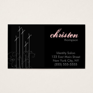 moderne Scheren Visitenkarte