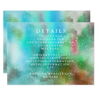 Moderne schicke Aquarell-Hochzeits-Informationen Karte