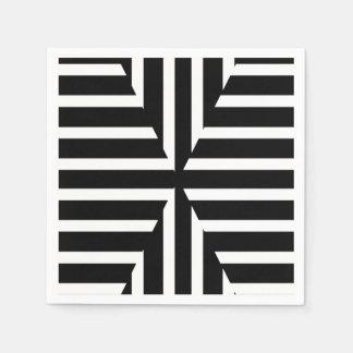 Moderne schicke doppelte Schwarzweiss-Streifen Serviette