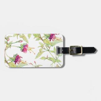Moderne schicke rosa Blumenmuster-Gepäckanhänger Kofferanhänger