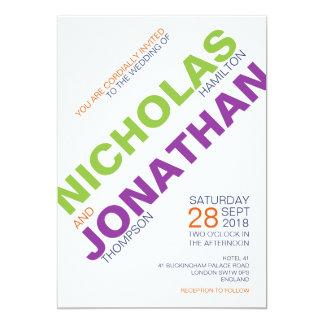 Moderne schicke Typografie-homosexuelle Karte