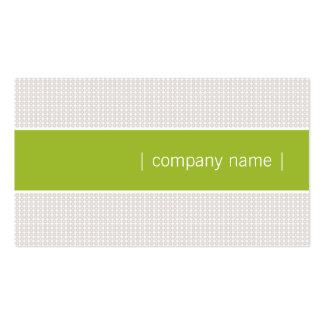 Moderne schicke Visitenkarte apfelgrün