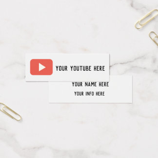 moderne Schmutz-Visitenkarte Youtubesozialmedien Mini Visitenkarte
