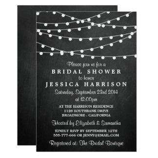Moderne Schnur-Lichter auf Tafel-Brautparty 12,7 X 17,8 Cm Einladungskarte