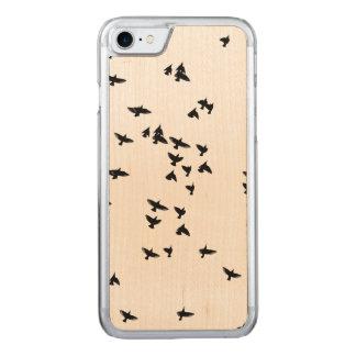 Moderne Schwarz-weiße Vögel Carved iPhone 8/7 Hülle